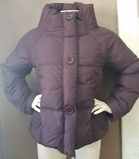 Garnet Hill Purple Quilted SOFT Down Coat Size 10 Womens
