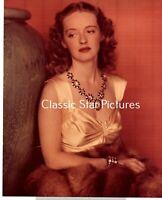 H211 Bette Davis 8 x 10 color portrait photograph not sure what year ?