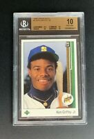 1989 Upper Deck Ken Griffey Jr. Rookie BGS 10 PRISTINE #1