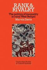 Rank and Rivalry: The Politics of Inequality in Rural West Bengal-ExLibrary
