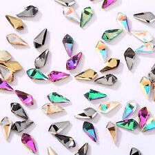 50pcs Nail Art Rhinestones Glitter Diamond Crystal Gems 3D Tips DIY Decoration