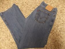 LEVIS 527 MENS BLUE JEANS 34 X 34 LOW BOOT CUT -FREE SHIPPING
