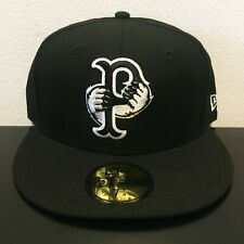 NWT New Era Pawtucket Red Sox MiLB 59Fifty Fitted Hat Black White Size 7 1/4