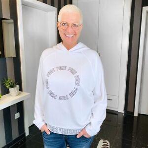 Emily Van Den Bergh - Sweatshirt Hoodie Kapuzenshirt / weiß