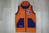 Womens Vintage Champion Orange Fleece Vest