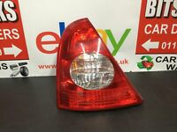 Renault Clio Expression Rear/tail Light (passenger Side) 5 Door Hatch 1998-2012