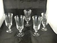 SET OF 5 Bavaria Germany CLEAR GLASS Water Goblets Glasses EXCELLENT COND