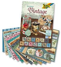 "Motiv-Block, Designpapier ""VINTAGE"", 26 Blatt, 24 cm x 34 cm, 2130.7422"