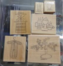 Stampin' Up Hostess A Slice of Life 6 Piece Rubber Stamp Set EXCELLENT Condition