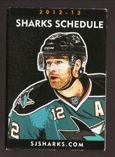 Patrick Marleau--San Jose Sharks--2012-13 Poster/Pocket Schedule--Comerica Bank