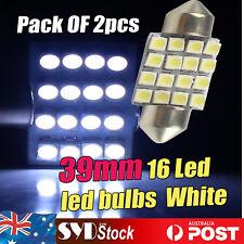 Festoon 39MM 1210 16 led Interior Dome Number Roof Light Globe Bulbs Pack of 2