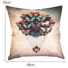 Fashion Coton Papillon Ballon Canapé Throw Taie d'oreiller Housse De Coussin Cel