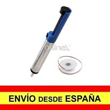 Desoldador de Estaño Limpiador de Soldadura Bomba Desoldadora + Malla a1249