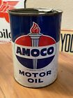 Vintage+AMERICAN+AMOCO+Advertising++ONE+QUART+Gas+Station+MOTOR+OIL+CAN