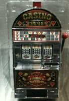 Christmas Gift Slot Machine Savings Bank Vegas Lights Sounds Spinning Wheel