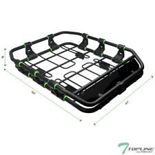 Topline For Kia Modular HD Roof Rack Basket Storage+Wind Fairing - Matte Black