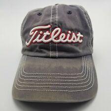 Titleist Boston Red Sox Hat Cap Gray Adjustable Strapback Used Mens Gr1