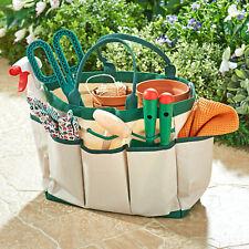 Gartentasche mit 8 Fächern - Gartengeräte Tasche Gartenarbeit Garten Werkzeug
