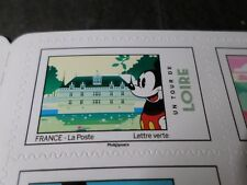 FRANCE 2018 timbre AUTOCOLLANT MICKEY UN TOUR DE LOIRE, DISNEY, neuf** MNH