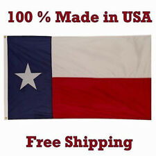 3x5 State of Texas Flag 3'x5' MADE IN USA (Knitted 100D Polyester Fabric)