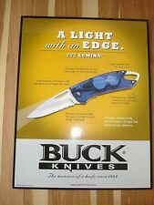Vtg Buck Knives Advertizing Counter Top Display Board 777 Lumina Whittaker Knife