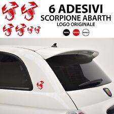 SCORPIONE ABARTH adesivo fiat logo tuning fiat 500 punto evo stemma stickers