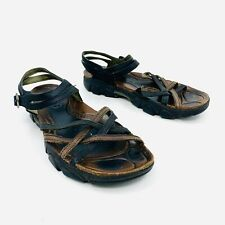Keen Black Brown Leather Strap Buckle Sandals Women's Size 8