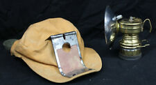 Original Vintage Safesport Mfg Brass Miner's Lamp with Cap