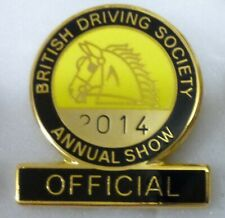 More details for british driving society enamel badge annual show official equestrian horse