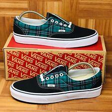 *NEW* Vans Authentic Era (Men Size 11) Green Plaid Skate Shoes Black