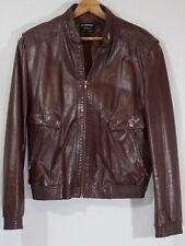 Vintage Leather Coat 1990's Moto Flight Bomber Jacket Designer Lined Tailored