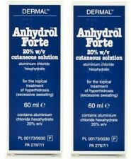 2 x Anhydrol Forte 20% Roll-On 60ml - For Excessive Sweating. **FAST FREE POST