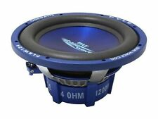 Car Vehicle Subwoofer Audio Speaker - 12 Inch Blue Injection Molded Cone, Blu...