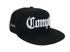 Black White Eazy E Compton Flat Bill Snapback Baseball Cap Caps Hat Hats EZ NWA