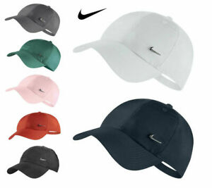 Nike Metal Swoosh Mens Boys Sports Peak Cap Baseball Golf Hat Adjustable Unisex