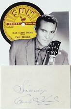 Carl Perkins ''King of Rockabilly'' Autograph Recorded At Sun Studios 1954