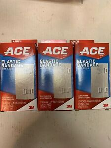 ACE Elastic Bandage 4 Inches (3 Pack) 63.6in Each Brand New