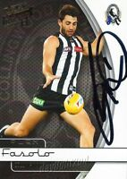 ✺Signed✺ 2015 COLLINGWOOD MAGPIES AFL Card ALEX FASALO
