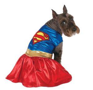 Rubies Classic Pet Super girl Dress Costume,Small