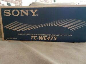 Sony TC-WE475 Stereo Dual Cassette Deck - New, Sealed in Original Box