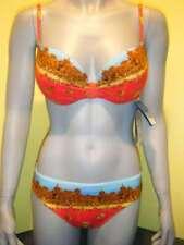 Rebecca swimwear bikini L 40 rood-blauw Push-up new € 139.95