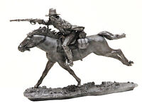 Cavalry 1:32 Scale Wild West Cowboy galloping on horseback tin toy soldier 54mm