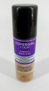 Covergirl + Olay Simply Ageless 227 Golden Beige Make-up 1oz New