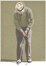 GOLF ART PRINT - The Putt by Bernie Horton Golf Portrait Swing Club Poster 16x12
