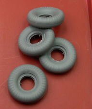 4 Schuco Micro Racer TIRES, new grey rubber replacements #1040, 1041, 1042, 1043