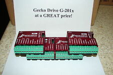 FOUR CNC Geckodrive G-201X ONE YEAR WARRANTY stepper motor Drivers W/EXTRAS G201