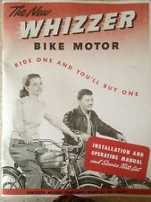 Whizzer Bike Motor, installation & Operating Manual, Parts List 1947