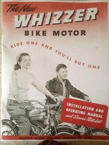 Whizzer Bike Motor, installation & Operating Manual, Parts List 1947