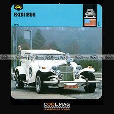#14.09 EXCALIBUR SS 1977 - Fiche Auto Car Card