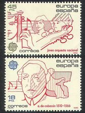 Spain 1985 Europa/Music/Musicians/Musical Score/People/Entertainment 2v (n39979)